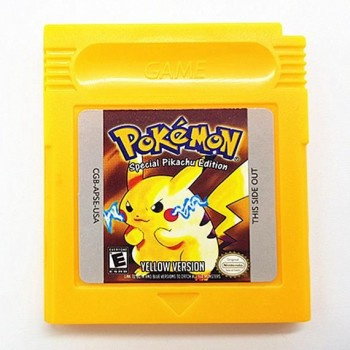 Original Gameboy Pokemon Yellow Pikachu Edition