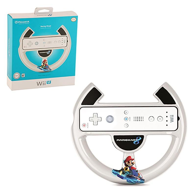 Wii U - Controller - Mario Kart 8 - Mario Racing Wheel - White (Power A)