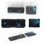 Cobra PC EKM820 Keyboard Mouse Mousepad Combo Pack