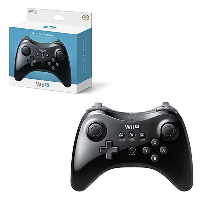 wii u controller pro controller black nintendo. Black Bedroom Furniture Sets. Home Design Ideas