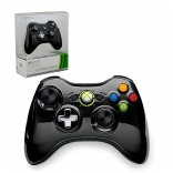 Xbox 360 - Controller - Wireless - Chrome - Limited Edition - Black (Microsoft)