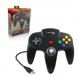 PC - Controller - Wired - N64 Style - USB Controller for PC & Mac - Black (Retrolink)
