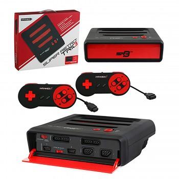 Super Retro Trio Console - 3 in 1 NES/SNES/Genesis Red & Black