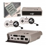 Super Retro Trio System - 3in1 Original Nintendo/Super Nintendo/Genesis - Silver & Black