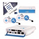 Super RetroTRIO - Console - NES/SNES/Genesis - 3 in 1 System - White/Blue (Retro-Bit)