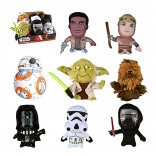 Toy - Super Deformed Plush - Star Wars: The Force Awakens - 12 pc CDU (Darth (1) Yoda ( 2) Chewbacca ( 2) Stormtrooper ( 1) Rey ( 1) Finn (1) BB-8 (2) Kylo Ren (2))