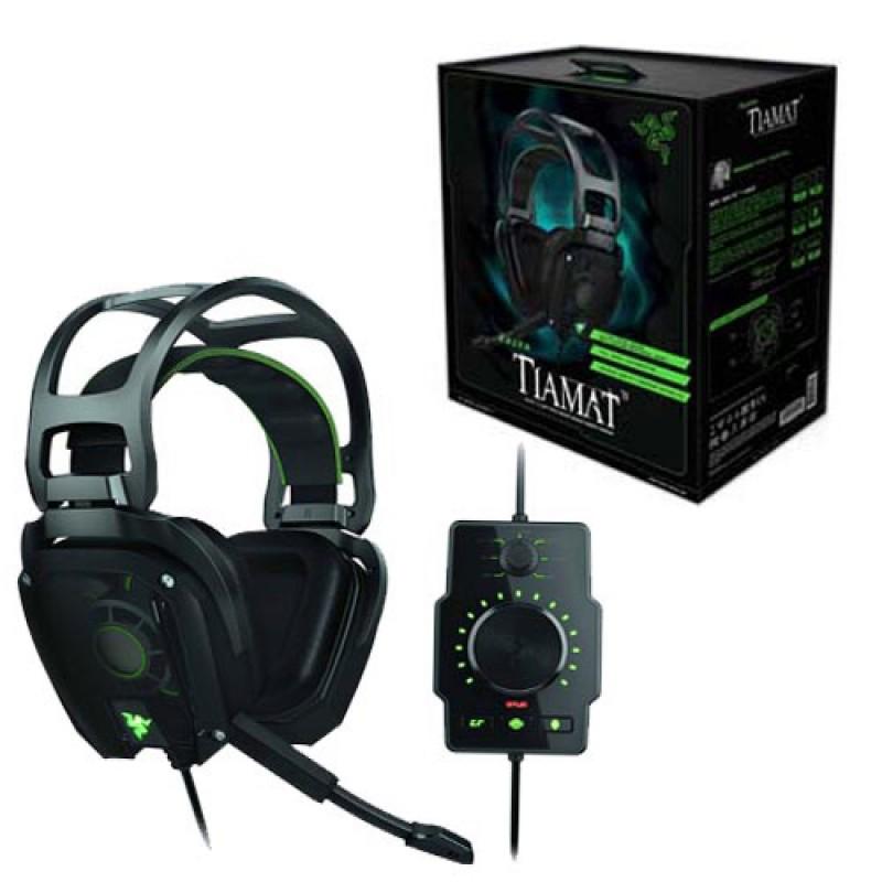 Pc Headset Tiamat 7 1 Elite Surround Sound Analog Gaming Headset Razer 879862002664