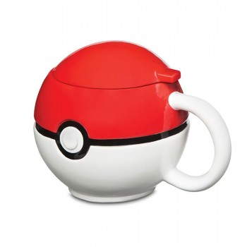 Novelty - Ceramic Mugs - Pokemon - Poke Ball with Lid
