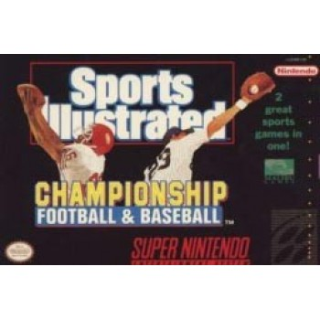 Super Nintendo Sports Illustratred Championship Football & Baseball (Cartridge Only) - SNES