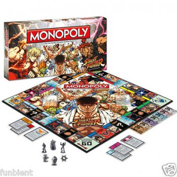 Street Fighter Monopoly Board Game Collectors Edition