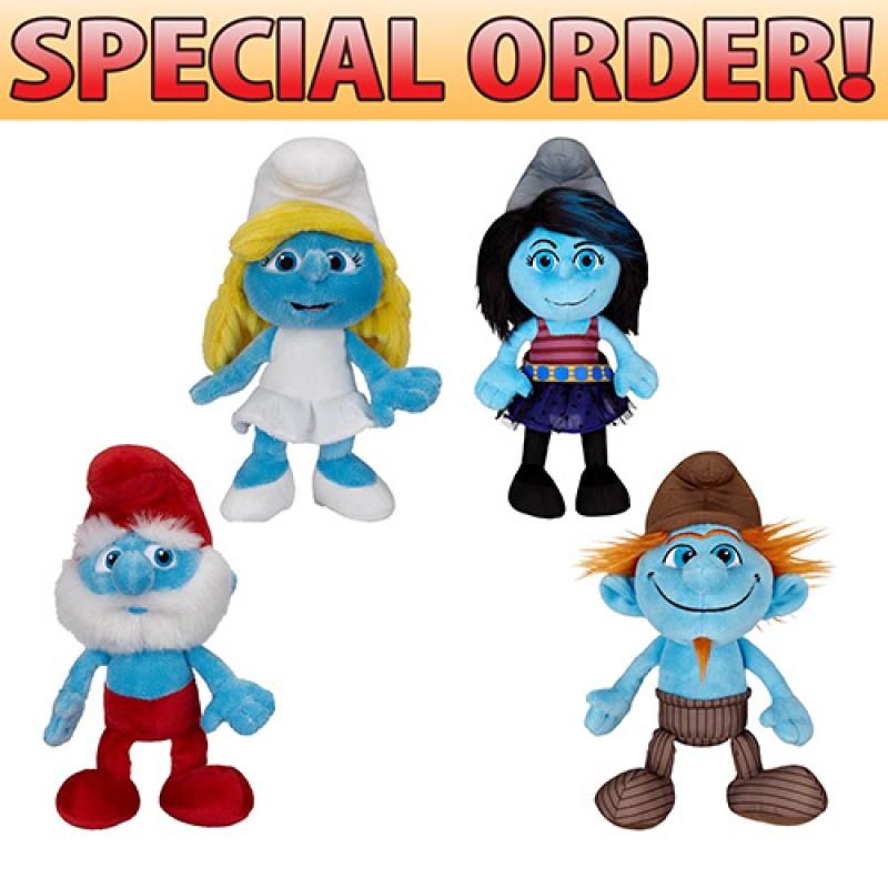 toy smurfs bean bag plush wave 2 2 papa smurf 2 smurfette 2 vexy
