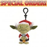 Toy Star Wars Santa Hat Talking Mini Plush Clip-ons Yoda Santa 16 Pcs
