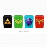 Novelty - Shot Glass - Zelda - Square Shot Glass 4 Pack Set
