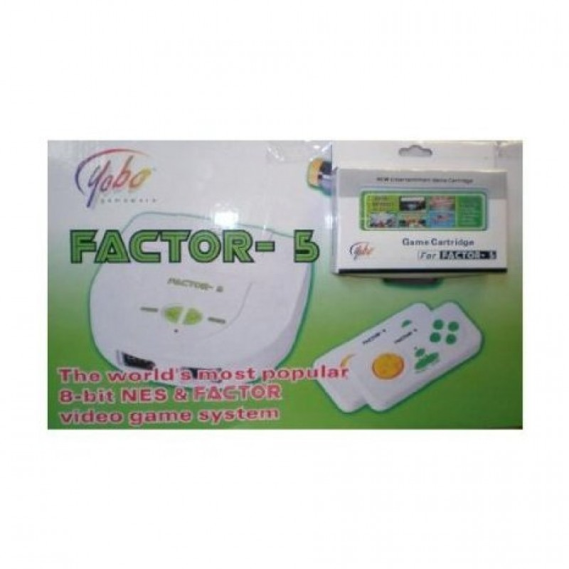 Yobo factor 5 video game system with 5 games new