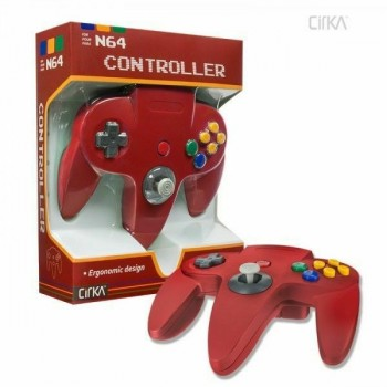 Original Nintendo 64 Controller Red - N64 Style Controller Red