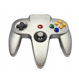 Original Nintendo 64 Controller Silver - N64 Style Controller Metallic Silver