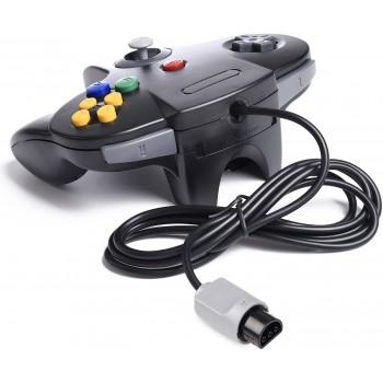 Nintendo 64 Controller in Black - N64 Style Controller Pad Black