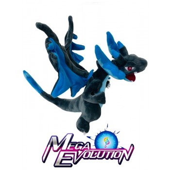 Mega Evolution Charizard Black Blue 10 Inch Plush Stuffed Pose-able Toy