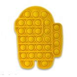 Among Us Pop It - Among Us Pop Fidget Toy - Yellow