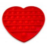 Red Heart Pop It Fidget Toy - Red Heart Popping Toy