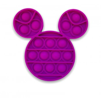 Popping Toy Mickey Mouse Style Head - Purple Pop It Toy