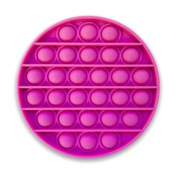 Girls Pop It Pink Circle Fidget Toy - Pink Bubble Popping