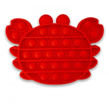 Crab Pop It Fidget Toy - Red Crab Popit