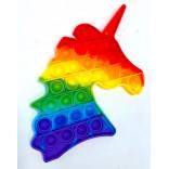 Rainbow Unicorn Pop It Fidget Toy - Unicorn Popping Toy