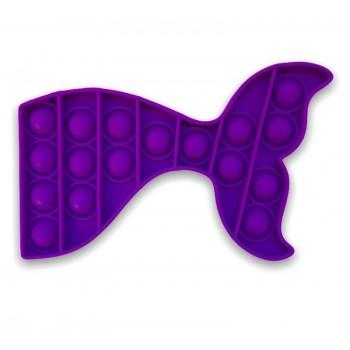 Bubble Pop Toy Whale Tail - Pop It Purple Whale Tail
