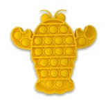 Yellow Lobster Pop It Fidget Toy - Bubble Popping Toy