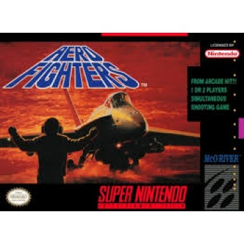 Super Nintendo Aero Fighters - SNES - Game And Box With Inserts