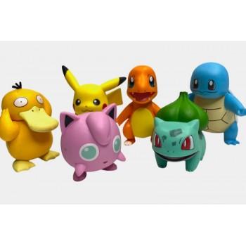 Pokemon Figures Set - Pokemon 2 Inch Figures 6 Pack