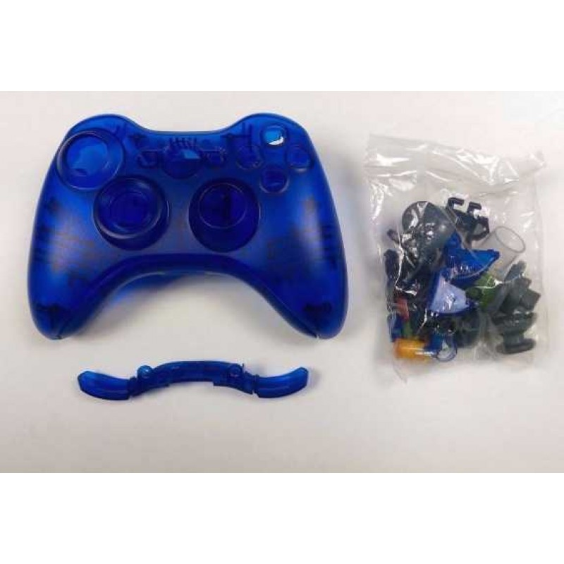 Xbox 360 Custom Controller Shells - Clear Blue