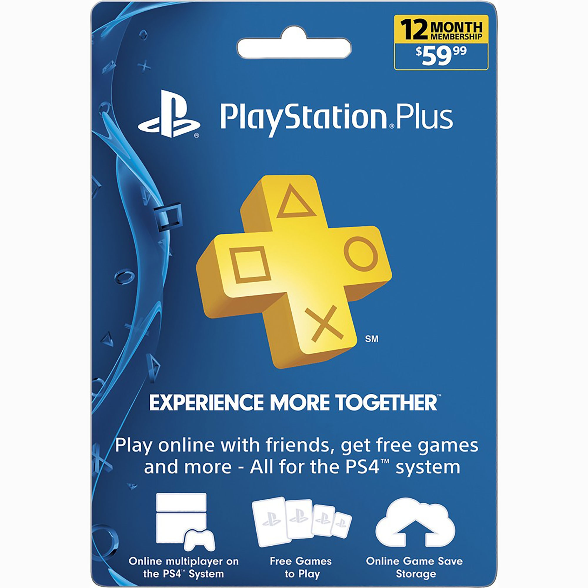 PS3 - PS4 - Subscription Card - PSN Live - 12 Month Membership -  PS3/PS4/PSvita Compatible (Sony)