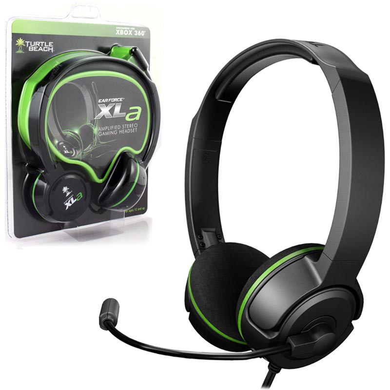 Xbox 360 Headset Ear Force Xla Headphones (turtle Beach)